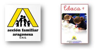 Programa EDUCA +, Educar para la vida, Acción Familiar Aragonesa, ONG, acción educativa, asistencia educativa, orientación educativa y apoyo docente, retos educación del siglo XXI, Informe Delors, Aprender a aprender, Aprender a hacer, Aprender a ser, Aprender a convivir, compromiso, educar para cambiar, educación inclusiva, optimismo, coaching educativo