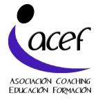 acef, coaching educativo zaragoza, proactividad, diseño logotipo coaching