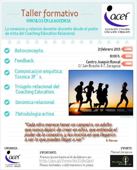 Taller formativo VINCULOS en la DOCENCIA. Coaching Educativo.