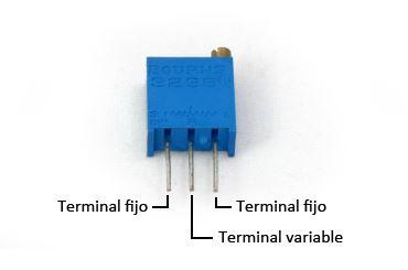 partes de un potenciómetro en arduino