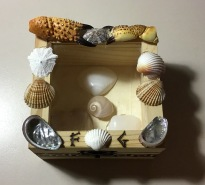 Caja marina pirograbada 03
