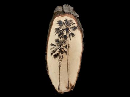 Palmera de California pirograbada