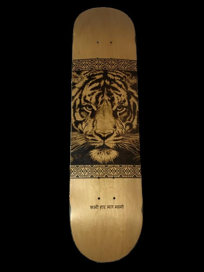 Tigre de Bengala pirograbado