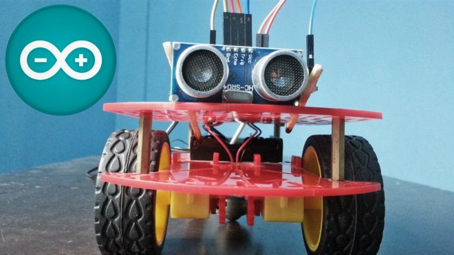 Coche evita obstáculos con Arduino