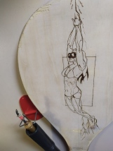 Diver pyrography wood burnings 4