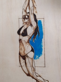 Diver pyrography wood burnings 6